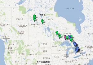 関心表明をおこなった地域の地図