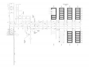 WIPP地下施設のレイアウト図