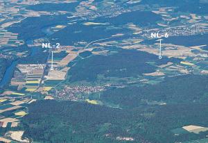 「NL-2とNL-6の位置関係」(ファクトシート「サイト地域北部レゲレンでの低中レベル/高レベル/共同放射性廃棄物用の地上施設設置区域NL-2」)より