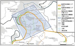 「チューリッヒ北東部」における三次元弾性波探査対象区域