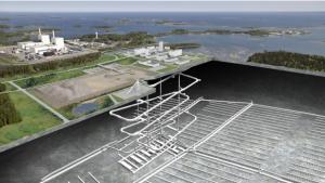 図 フォルスマルクに建設予定の使用済燃料処分場のイメージ(SKB社提供)