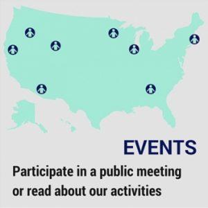 パブリックミーティングの開催地の地図