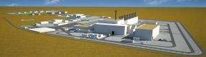 集中中間貯蔵施設(ATC)の完成予想図