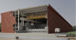 デッセル自治体に建設予定の浅地中処分場の概観イメージ
