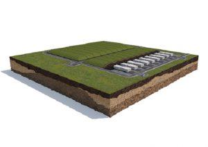 国家放射性廃棄物処分場に建設される浅地中処分場の概念図