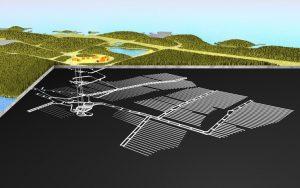 使用済燃料処分場のイメージ図(出典:Posiva Oy)
