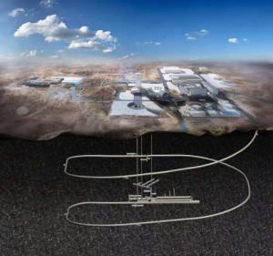 北山に建設される地下研究所のイメージ図(出典:BRIUG)